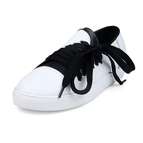 Nero White Comfort Tacco Summer Scarpe ZHZNVX donna da Sneakers Vacchetta piatto Bianco gvwRqRPX