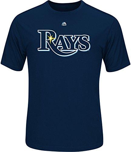 Tampa Bay Rays Mens Wordmark Short Sleeve T-Shirt X-Large Navy blue