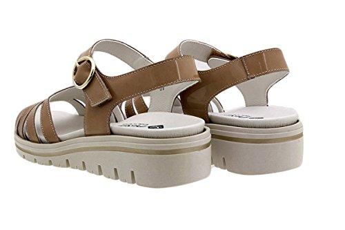 180786 Terra PieSanto Ante Zapato Platino Extraíble Plantilla Charol Sandalia Metal Confort AU6Y7n