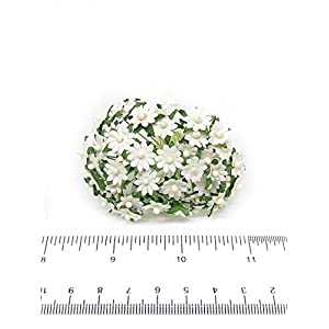 1cm White Paper Daisies, Mulberry Paper Flowers, Miniature Flowers For Crafts, Mulberry Paper Daisy, Paper Flower, Artificial Flowers, 50 Pieces 4