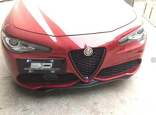 2017 QV Style Carbon Fiber Front Lower Lip Spoiler for Alfa Romeo Giulia Sedan