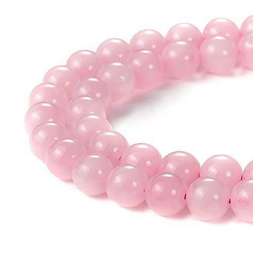 4mm Natural Rose Quartz Beads Round Gemstone Loose Beads for Jewelry Making (Natural Quartz Pendant Bead)