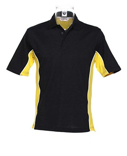 Kustom Kit–Gamegear Track Polo Shirt KK475schwarz/gelb groß