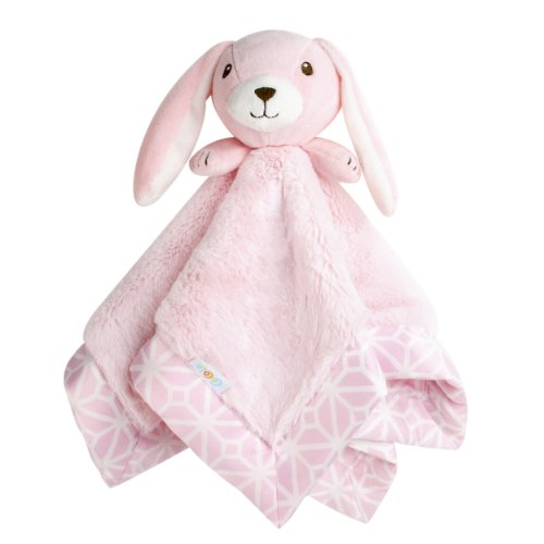 CoCaLo Mix & Match Fur/Matte Satin Security Blanket, - Blanket Baby Cocalo Pink