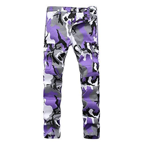 Da Strappati Con Purple Taglio In Aderenti Mininess Motociclista Fit Slim Denim Jeans qatpwp