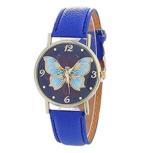 WSSVAN Nuevo Mariposa Patrón Reloj para Mujer Romano Dial ...