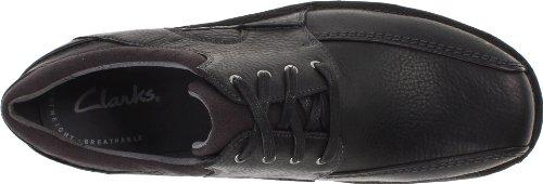 Clarks  Senner Blvd, Chaussures de ville à lacets pour homme Noir Black Tumbled Leather