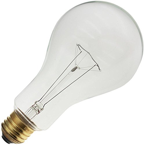 Industrial Performance 200PS25/CL 130V, 200 Watt, PS25, Medium Screw (E26) Base Light Bulb (1 Bulb)