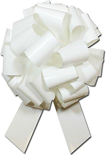 color blanco guirnaldas 12 pulgadas de di/ámetro con 28 lazos gigantes lazos de regalo grandes lazos de Navidad para regalos grandes lazos de regalo coronas grandes lazos de coche