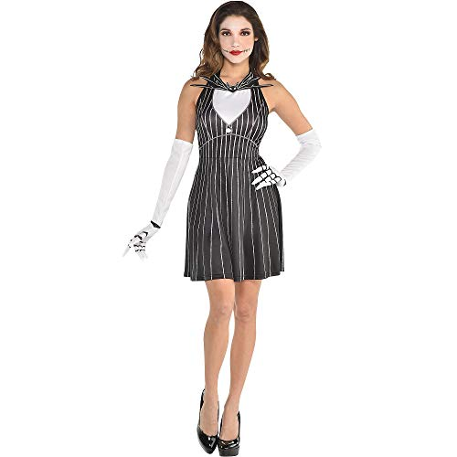 Party City The Nightmare Before Christmas Jack Skellington Halloween Costume Accessory Kit for Women, One Size -