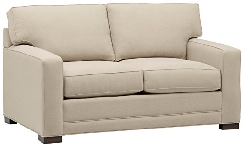 Stone & Beam Dalton Transitional Loveseat, 63.5″W, Sand For Sale