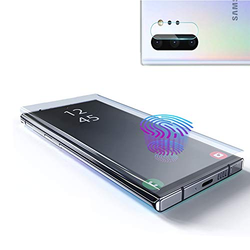 [2 Pack] Galaxy Note 10 Screen Protector Tempered Glass, Include a Camera Lens Protector with [Case Friendly] [Full Screen] [HD Clear] [Touch Responsive] for Note10 [6.3 ()