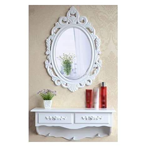 Amazon.com: SZ5CGJMY ?? Wooden vintage Shabby Chic Dressing Mirror ...