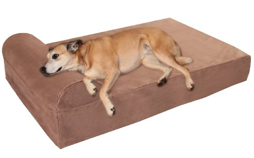 Big Barker 7″ Orthopedic Dog Bed with Pillow-Top (Headrest Edition) | Dog Beds Made for Large, Extra Large & XXL Size Dog Breeds | Removable Durable Microfiber Cover | Made in USA