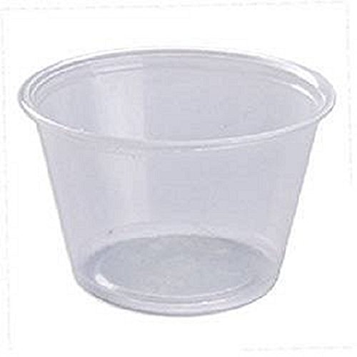 Plastic Souffle Portion Cup - 200 4 Oz Plastic Souffle Portion Cups; Perfect for sauces, dips, salsa or other food samples