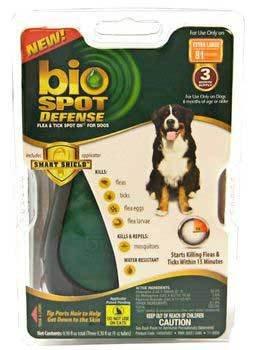 Spot Dog Defense Bio - Bio-Spot Defense Spot On For Dogs Over 80lbs 3 Month