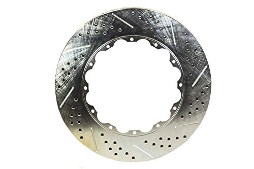 """BAER BRAKES 6920222-BKCZ Rotor Ring Replacement (14"""" 1.15"""" Thick Slot Drill W/Zinc Passengers Side)"""