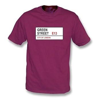 Verde Camiseta de West Ham de las Carreteras de E13 marrón castaño ...