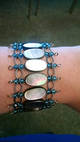 Black shell chain bracelet