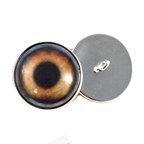 Brown Dog Sew On Glass Eyes16mm Buttons with Loop for Cro...