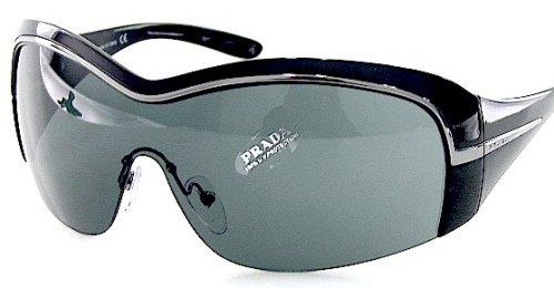 e812b73e1f38 New Prada Sunglasses Gray Shades Spr 06H 1Ab-1A1 Spr06H Black Frame Size  01-36-120   Amazon.co.uk  Clothing