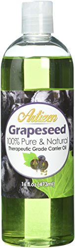 Grape Carrier (Artizen Grapeseed Oil – 16oz (Ounce) Bottle (100% Pure & Natural) – Perfect Carrier Oil for Diluting Essential Oils – Extracted from Grape Seed – Work Great as a Massage Oil, Aromatherapy, and More!)