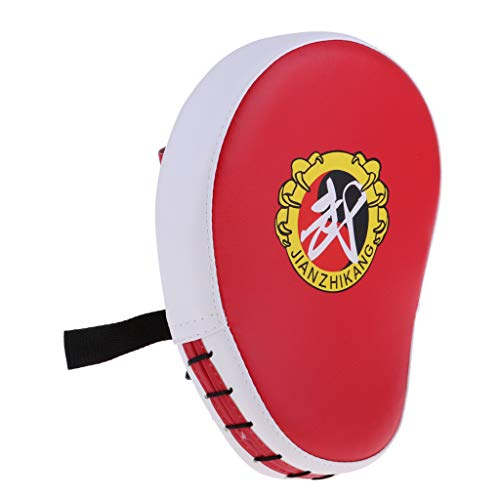(kesoto Punching Kick Target Pad Double Hand Racket Kicking Strike Hand Mitts Fit for Kids/Adults Home Kickboxing, MMA, Martial Arts, Karate Practicing - Red)