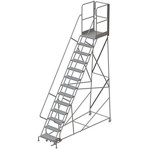 Tri-Arc RWSR113246-XR 13-Step Gateway Rear-Exit Steel Rolling Ladder with 30