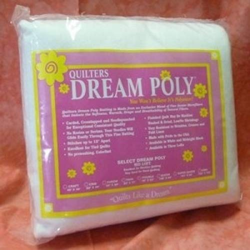 Quilter's Dream Batting- Poly Select- Mid Loft- Super Queen Quilter' s Dream Batting P4SQ