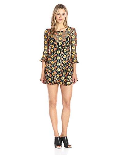 For Love & Lemons Women's Amelia Swing Dress, Sunflower, M