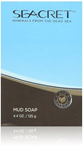 Dead Sea Minerals Mud Soap 100% Natural and Authentic, 1 Bar. 4.4 oz