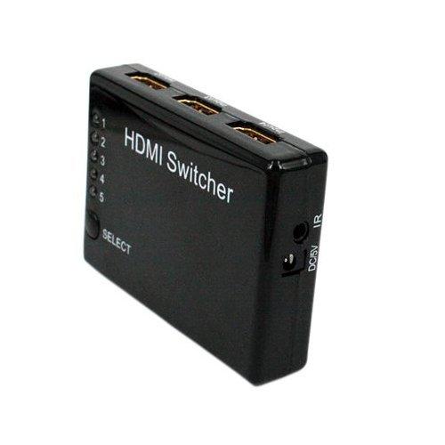 5x1 5-Port HDMI Switch/Switcher with PIP and IR Wireless Remote Control, 4K x 2K 5 to 1 HDMI Switch ()