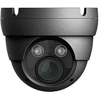 "Titanium IP-5IRD5002VFZ-G HD IP IR Eyeball Dome Network Camera, Black, H.265 Compression, 1/2.5"" 5MP CMOS Sensor, 2.8~12mm@F1.4 Motorized Lens, 5MP@30fps, 2 Matrix IR On/Off Control, DC 12V/PoE"