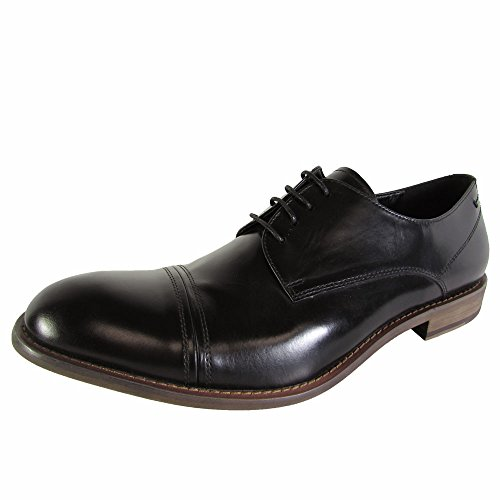 Kenneth Cole New York Menns Kamp Trakter Cap Toe Oxford Sko Svart