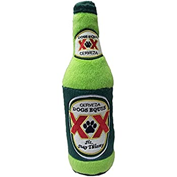 Dog Diggin Designs Libation Station Collection | Unique Squeaky Plush Dog Toys – Shaken, Not Stirred (Dogs Equis Cerveza)