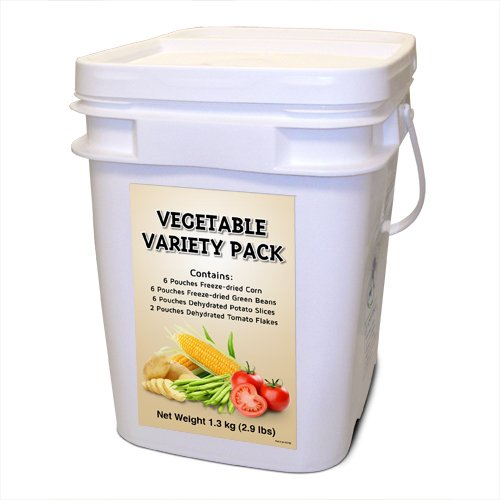 Freeze Dried Vegetable Variety - 160 servings