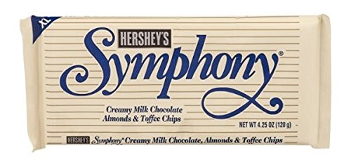 (Hershey's Symphony Creamy Milk Chocolate, Almonds & Toffee Chips Candy Bar - XL 4.25 oz. (Pack of 6))