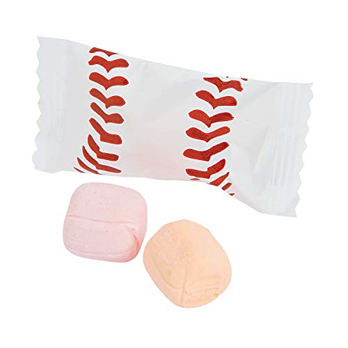 Birthday Buttermint Creams - Baseball Sweet Creams Candy - 108 Pieces Individually Wrapped (Strawberry and Orange Flavored)