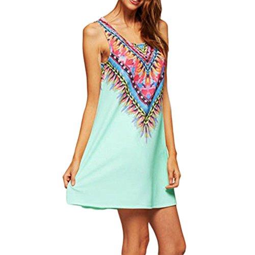 Abito Maniche Stampato Stampato Donna Corto JLTPH Vintage Mini Vestiti Mini Spiaggia Dress Fiore Stampato Vestito Boho Color2 W0SHwq8Y