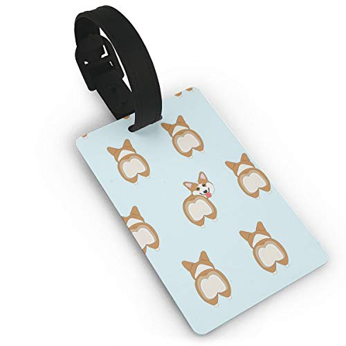 Cruise Luggage Tag With Adjustable Wrist Strap - Funny Corgi Dogs Butt Suitcase Labels For Women Men, Widebag Tags Name Id Labels Travel Id Labels, Large Tag Tables -