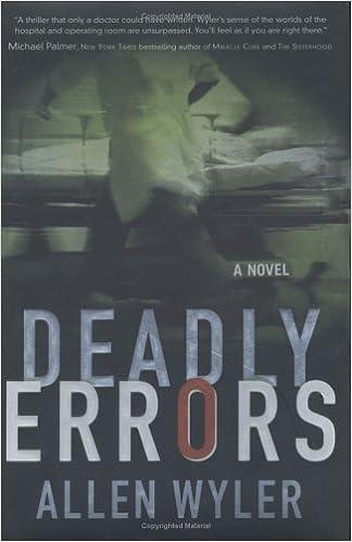 Amazon Deadly Errors Allen Wyler Allen R Wyler Books