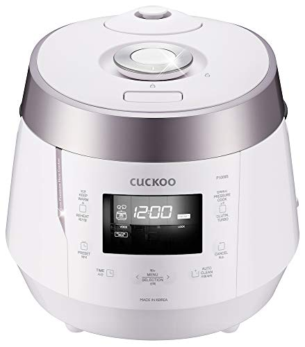 Cuckoo CRP-P1009SW 120V 10 Cup Electric Pressure Rice Cooker, White