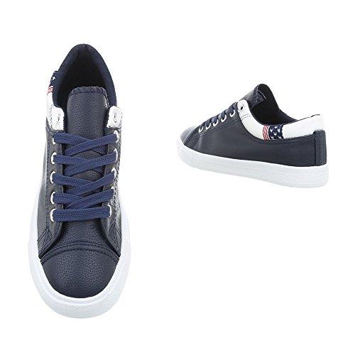 1 Plat Baskets 20 Ital Espadrilles design N Bleu Low Sneakers Femme Mode Chaussures Foncé wFFqXpxO