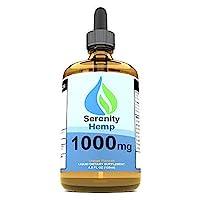 Serenity Hemp Oil - 4oz 1000mg Orange - Relief for Stress, Inflammation, Pain, Sleep...