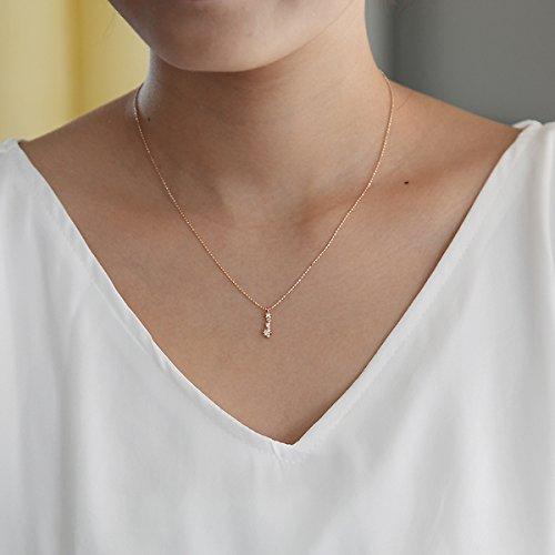 4℃ (ヨンドシー)ダイヤモンド K10 ピンクゴールド(PG)ネックレス 110746123116