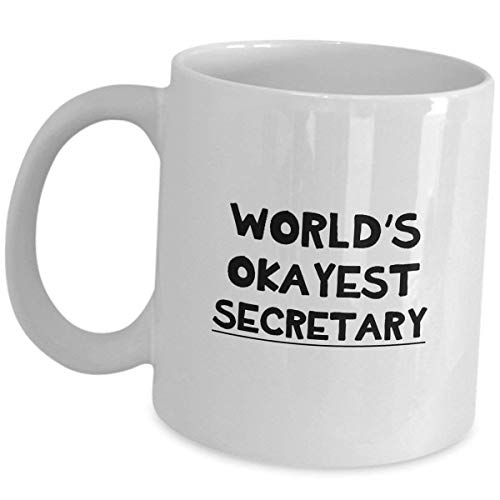 Secretary Coffee Mug Tea Cup Gifts - Funny Cute Recognition Award Appreciation Gift Idea For Secretaries Personal Administrative Assistant PA Office Coworker Reward Accessories]()