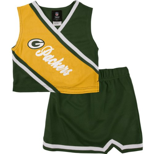 f27c5d410 Amazon.com  Reebok Two Piece Green Bay Packers NFL Cheerleader Uniform Set ( Size 7 8 to 16)  Clothing