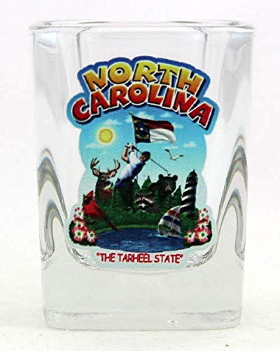 (North Carolina State Montage Square Shot Glass)