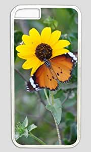 Sunflower Under Scorching Sun DIY Hard Shell Transparent iphone 6 plus Case Perfect By Custom Service