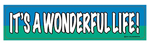 3030 IT'S A WONDERFUL LIFE Decal 7.5